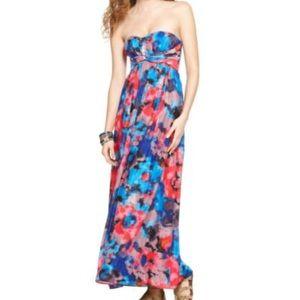 Jessica Simpson Vivid Strapless Maxi Dress